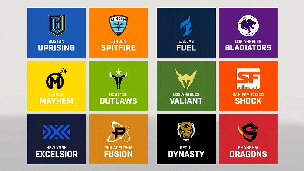 Teams from the Overwatch League