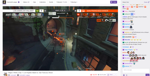 Twitch.tv interface