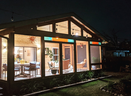 An outdoor room in Austin just in time for Spring.