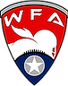 The logo of the Women's Football Alliance. This is a league of over60 team playing full-contact woen's football across te United States.
