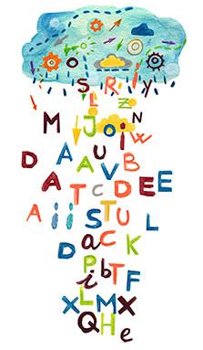 Lluvia de letras. Aprender Cuenta