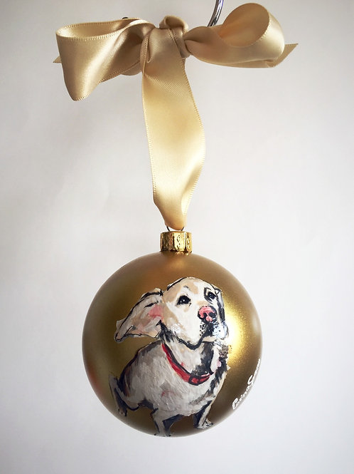 Puppy Ornament (Gold)