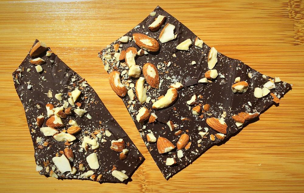 Dark Chocolate Sea Salt Almond Bark - Gluten Free, Dairy Free, Grain Free