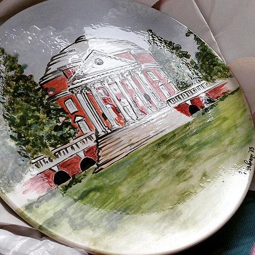 Ceramic Painted Plate (Collegiate)