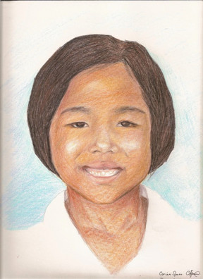 Poh colored pencil on water color paper
