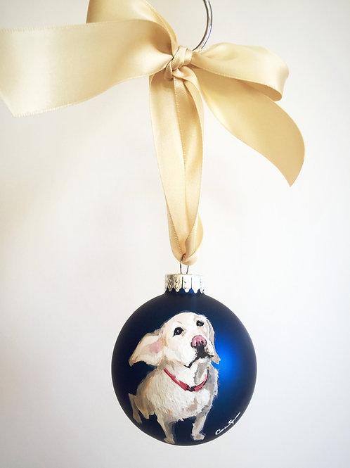 Puppy Ornament (Navy)