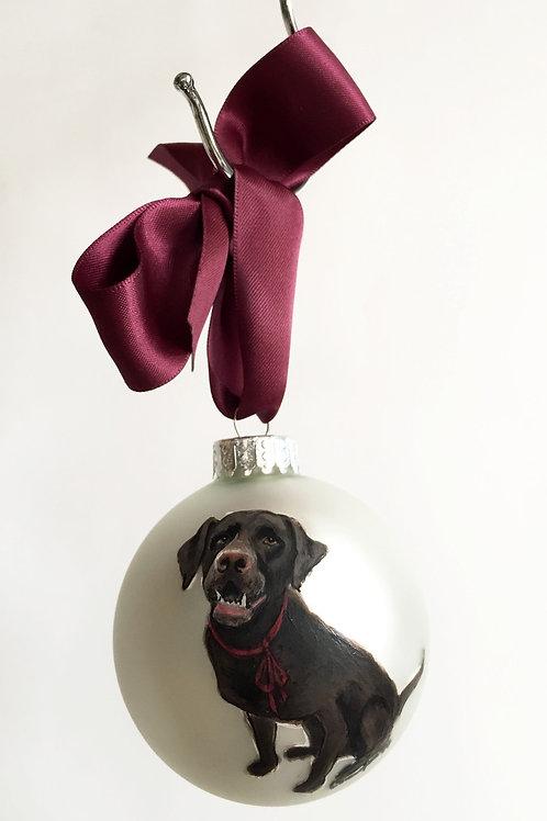 Puppy Ornament (White)