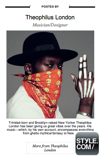 STYLE.COM Mention by THEOPHILUS