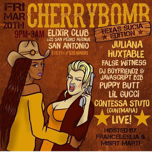 CHERRYBOMB X SUCIA SXSW