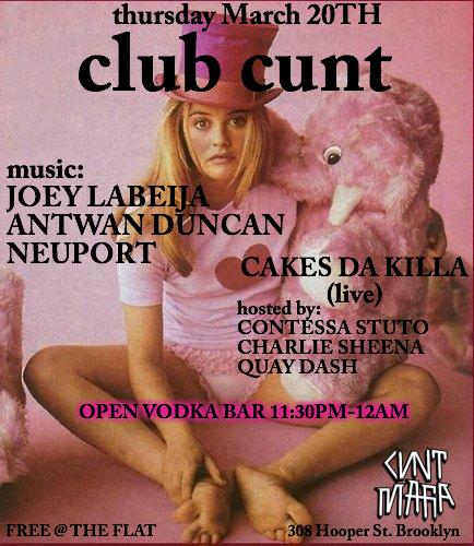 CLUB CUNT 3.20.14