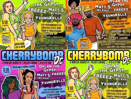 Time to #CHERRYBOMB! Washington DC Day Party with Open Bar on August 8th, 2015