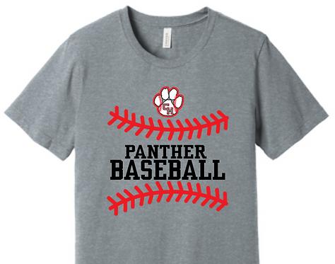 CHHS Baseball Paw Panther Stitches Tee