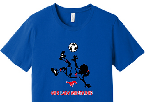 GHS Lady Mustangs Soccer Character T-Shirt
