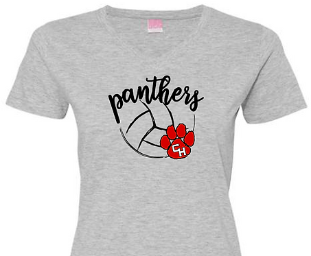 CHHS CHVB Panthers with Paw V-Neck