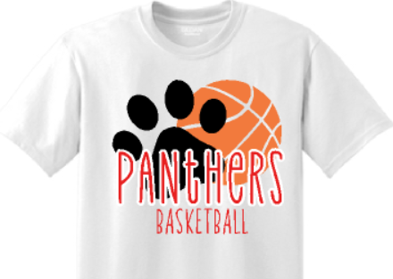 CHHS Basketball T-Shirt Paw