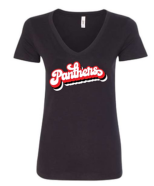 CHHS FB Ladies Fitted V-Neck Retro