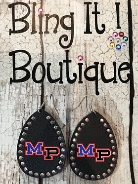 MP Football Earrings