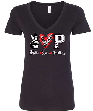 CHHS FB Ladies Fitted V-Neck Peace