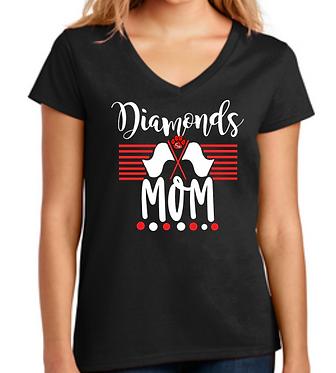 CHHS Diamond Mom V Neck