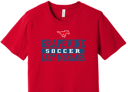 GHS Lady Mustang Soccer  Athletic T-Shirt
