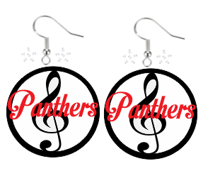 CHHS Band Acrylic Earrings