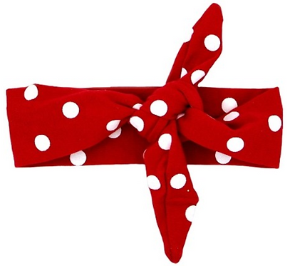 Riveting Red Polka Dot Headband