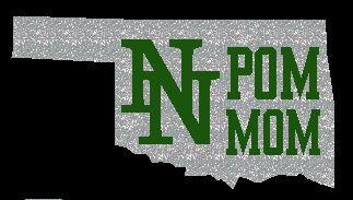 NN Pom Mom Decal Oklahoma