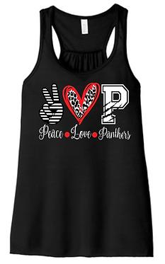 CHHS FB Ladies Tank Peace