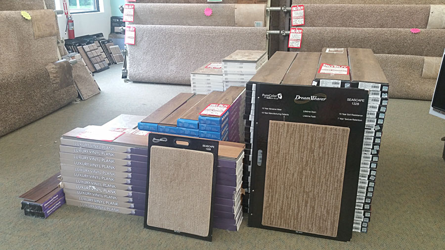 flooring in boxes