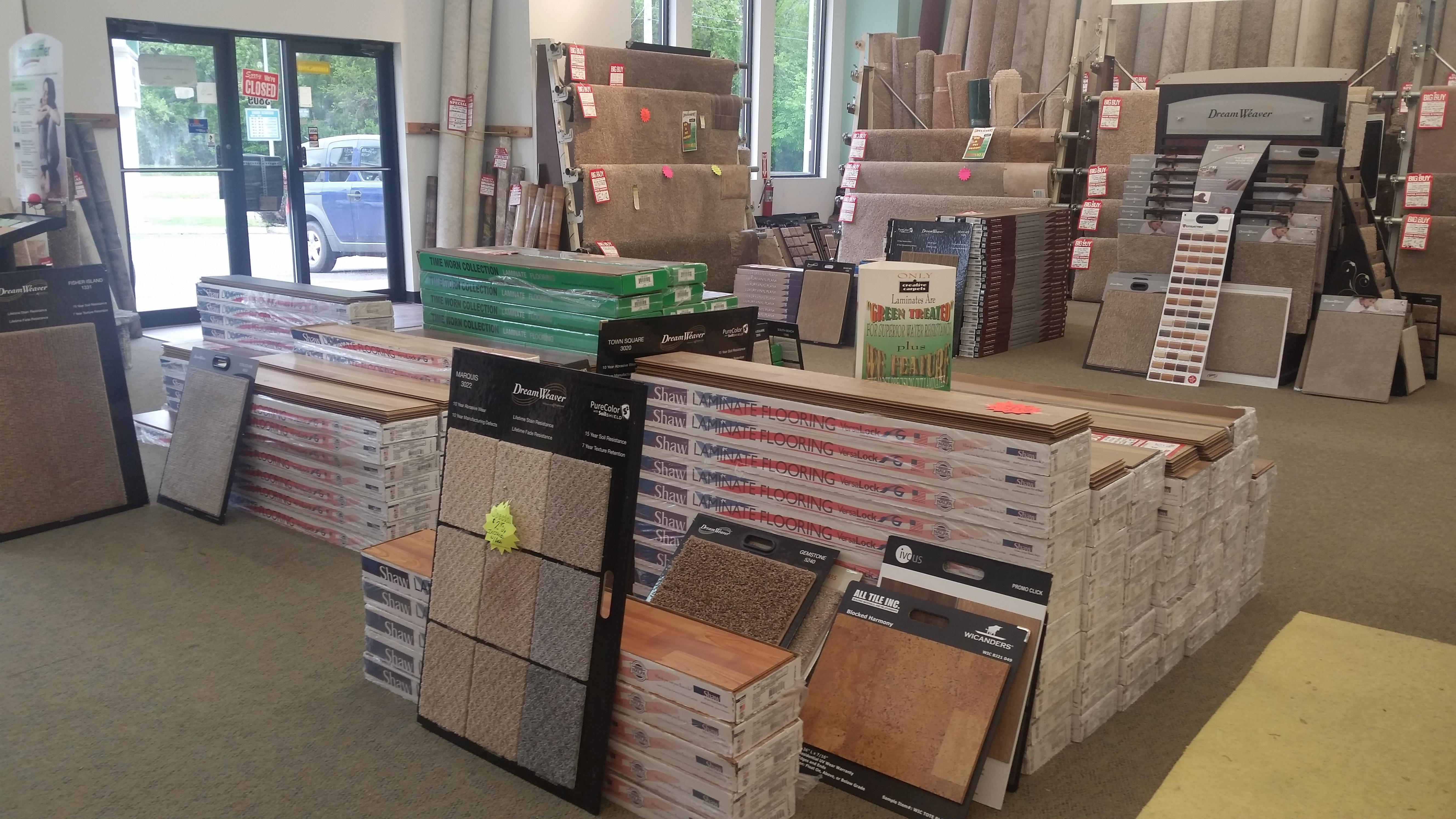 carpet/flooring in boxes