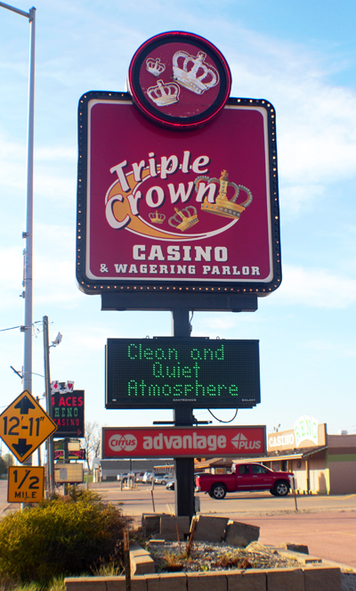 Triple Crown Sign