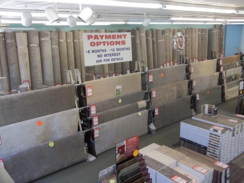 carpet selections, payment options