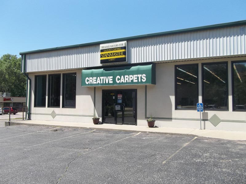 creative carpet store front