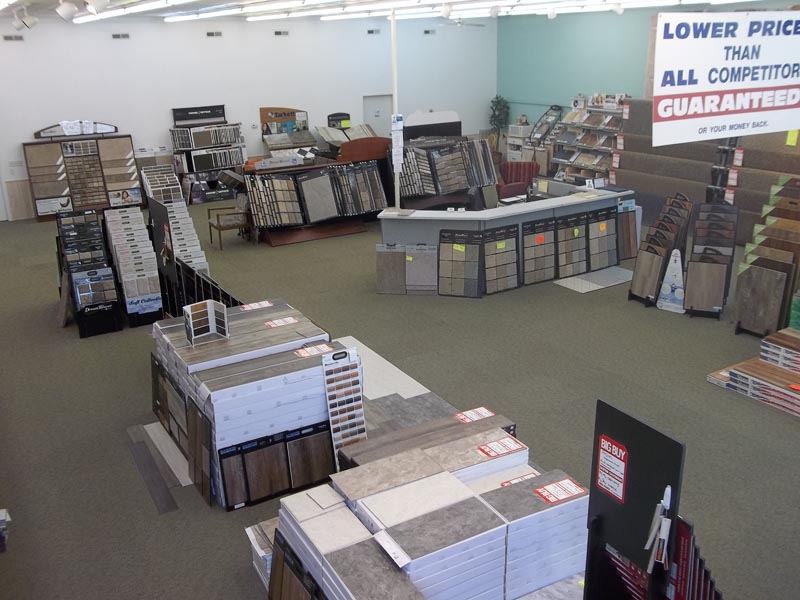 inside of creative carpets store