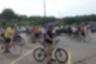 Participants getting ready to ride