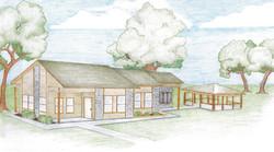 Pecan Creek Village New Office Rendering