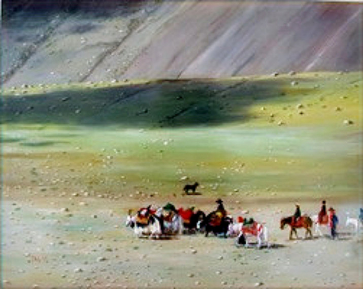 Tim Lovejoy: paintings from trips to Tibet 2009-2011