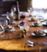 préparation de table