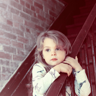 Girl on Stairs 2