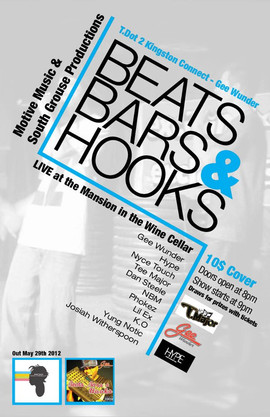 Beats Bars and Hooks Event Poster