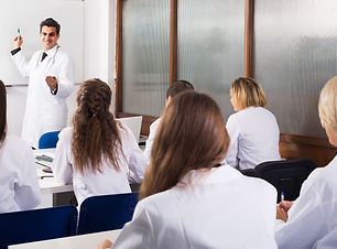 Medical students in class