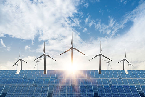 solar cell plant and wind generators und