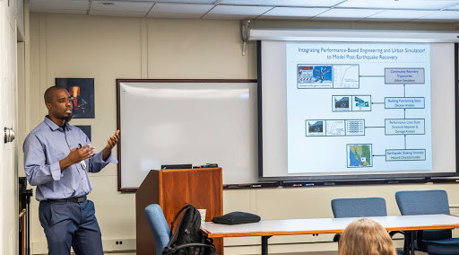 Henry Burton presenting at the NIST 2017 Materials and Structural Systems Division Seminar Series