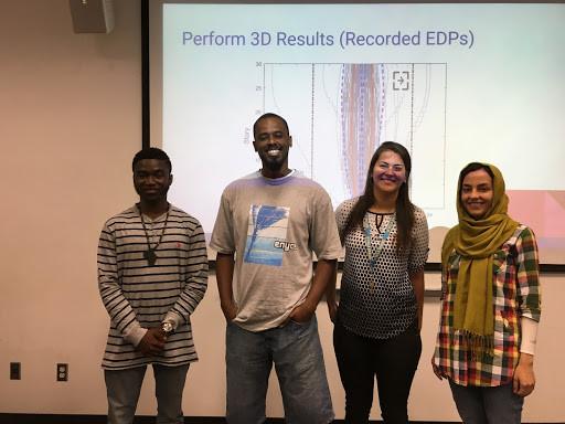 Kofi Afriyie (Morgan State), Henry Burton (UCLA), Evely Macedo (Morgan State) and Shahrzad Dastmalchi (UCLA): UC-HBCU Final Presentations