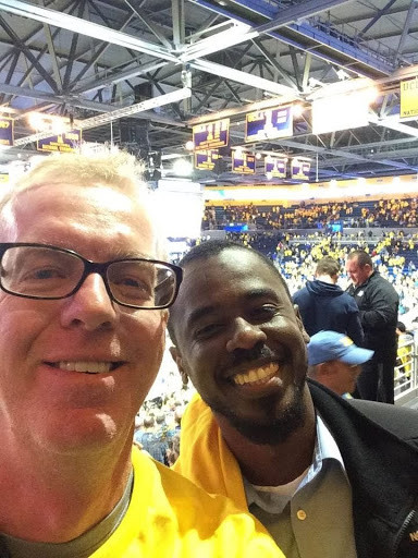 Henry Burton and John Wallace at UCLA Men's Basketball Game