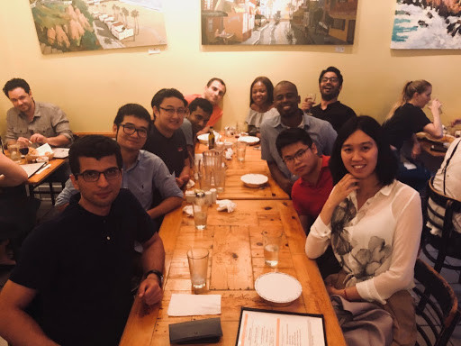 BRG Celebration Dinner: Hua's and Mehrdad's graduation, 2018