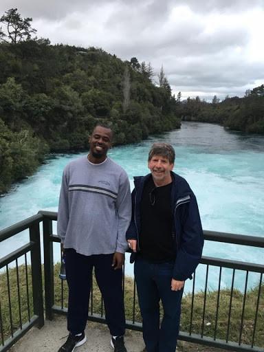 Henry Burton with Greg Deierlein (PhD Advisor): 2017 QuakeCoRE Annual Meeting: Wairakei, New Zealand