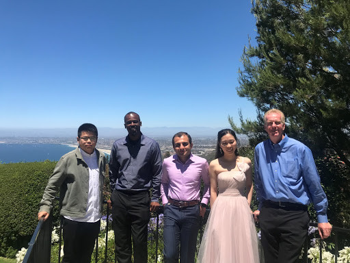 Yu Zhang (UCLA), Henry Burton (UCLA), Mehrdad Shokrabadi (UCLA), Shanshan Wang (Berkshire Hathaway) and John Wallace (UCLA): Han Sun's Wedding, Summer 2019