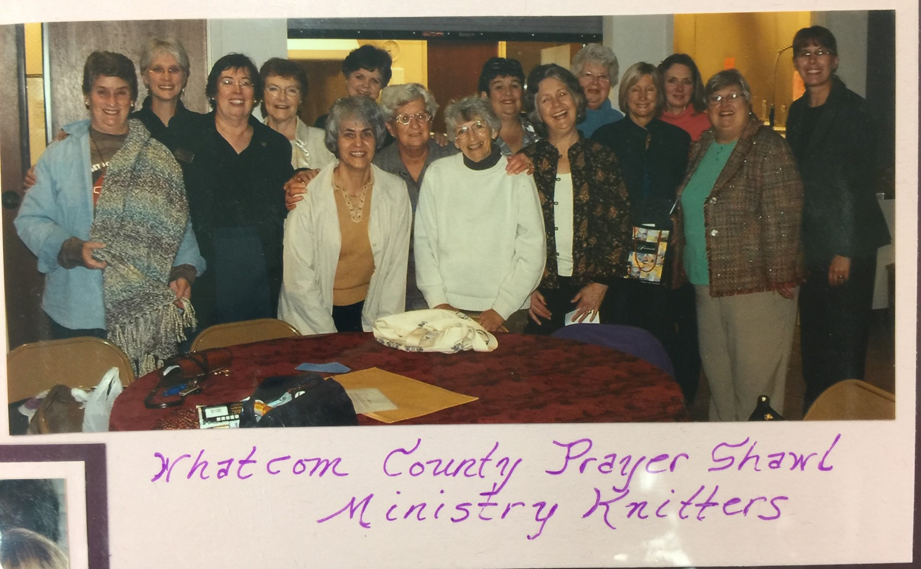 Jeanne Brotherton, FCN, with the Whatcom County Prayer Shawl Ministry Knitters