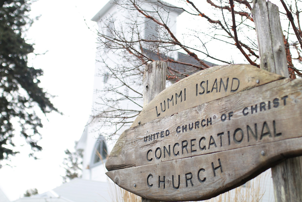 Lummi Island Congregational Church Sign